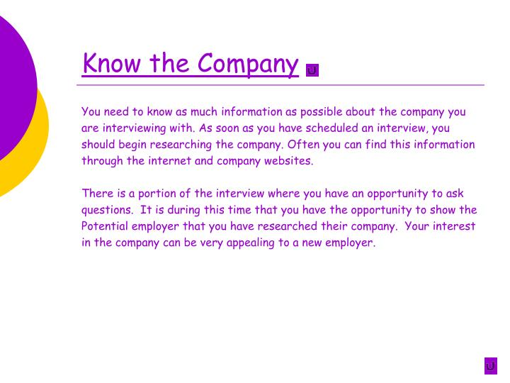 Know the Company