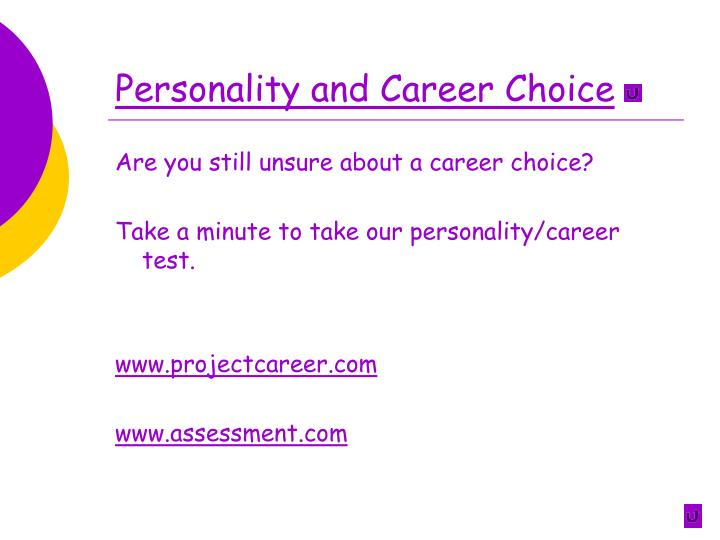 Personality and Career Choice