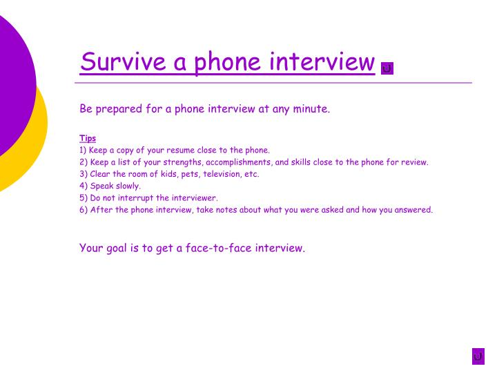 Survive a phone interview