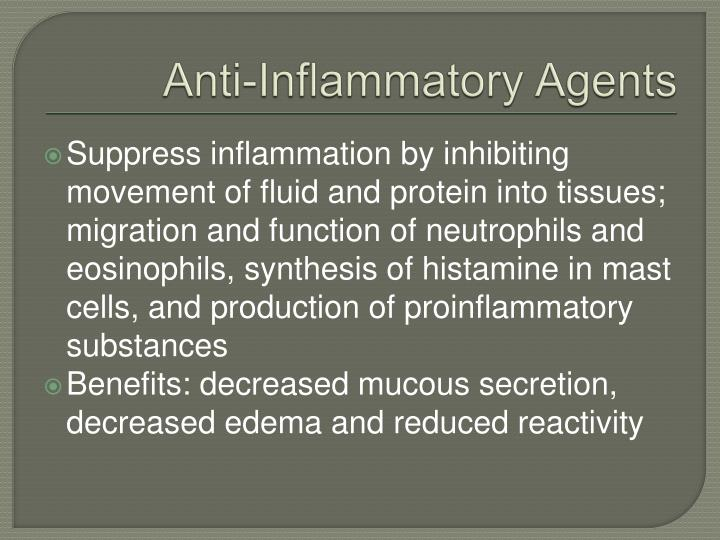 Anti-Inflammatory Agents