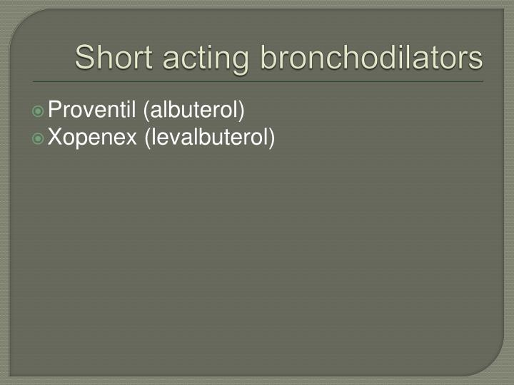 Short acting bronchodilators