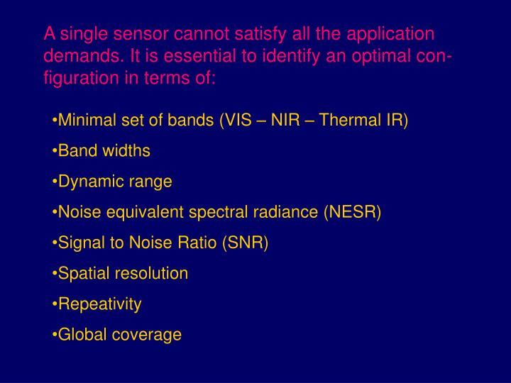 A single sensor cannot satisfy all the application demands. It is essential to identify an optimal c...