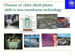 closure of chlor alkali plants shift to non membrane technology