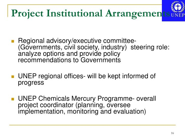 Project Institutional Arrangements