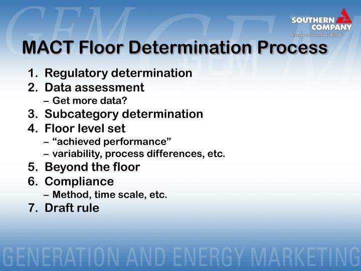 MACT Floor Determination Process