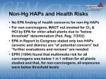 non hg haps and health risks
