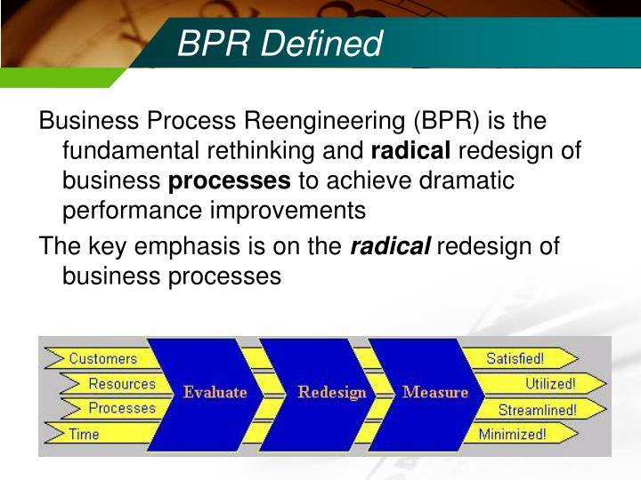 BPR Defined