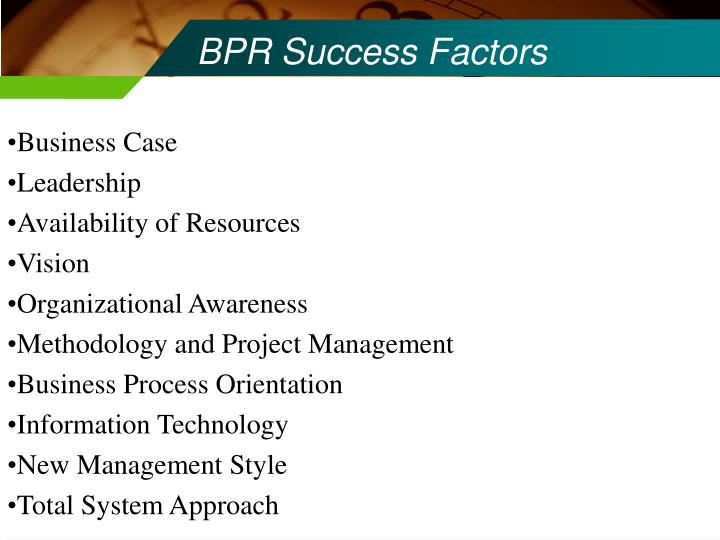 BPR Success Factors
