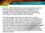 case 1 ford s accounts payable