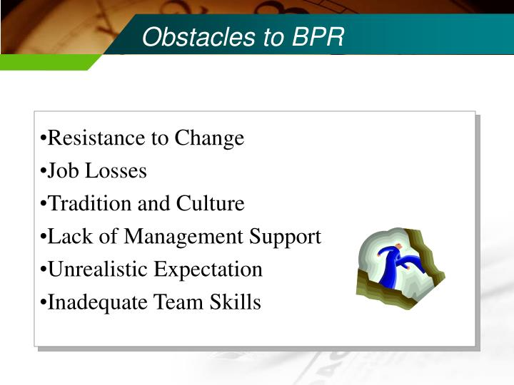 Obstacles to BPR