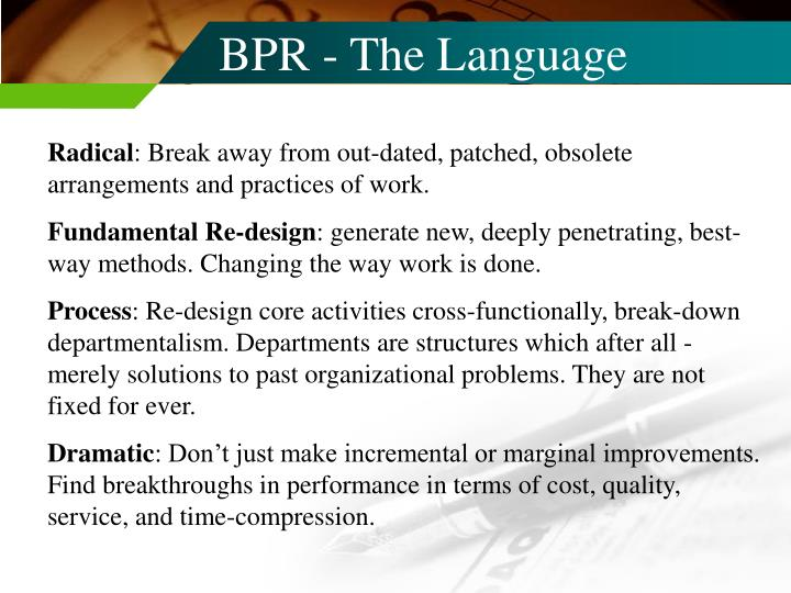 BPR - The Language
