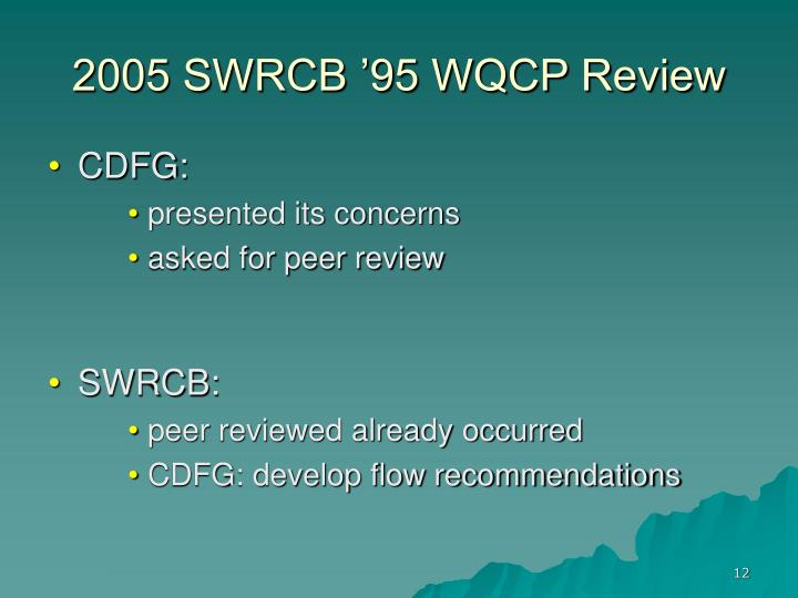 2005 SWRCB '95 WQCP Review
