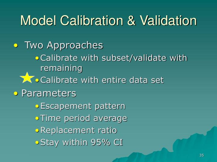 Model Calibration & Validation