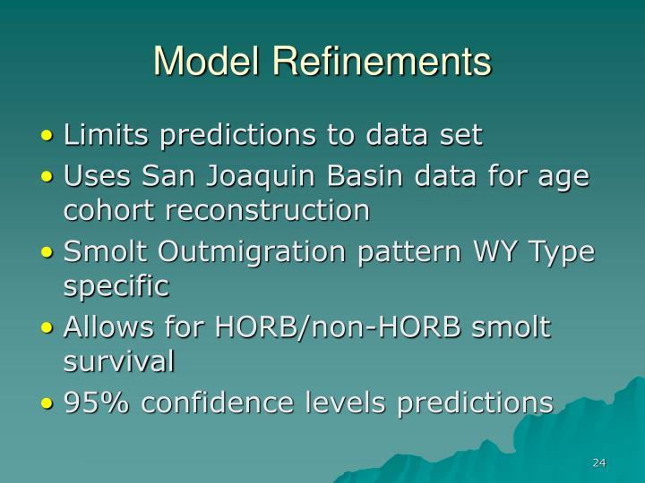 Model Refinements