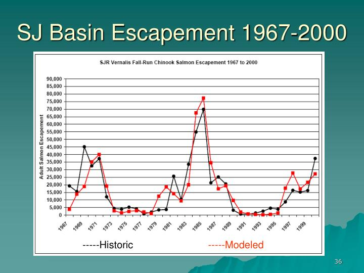 SJ Basin Escapement 1967-2000