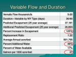 variable flow and duration1