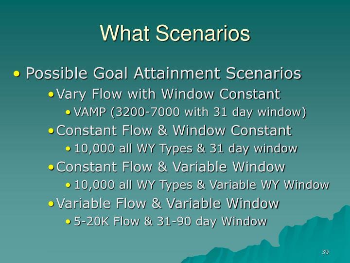 What Scenarios