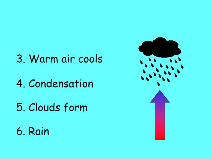 3. Warm air cools
