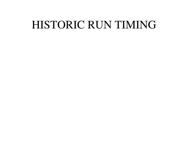 HISTORIC RUN TIMING