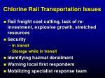 chlorine rail transportation issues