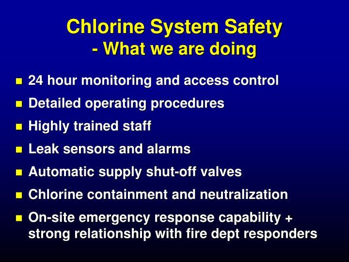 Chlorine System Safety