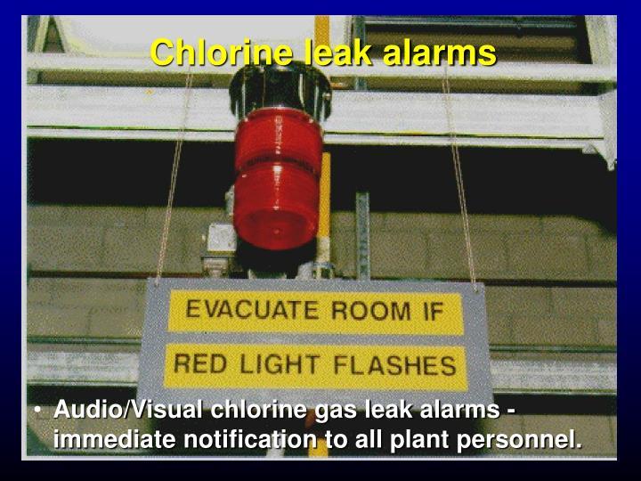 Chlorine leak alarms