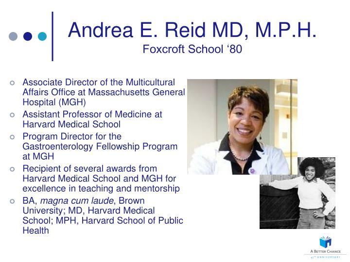 Andrea E. Reid MD, M.P.H.