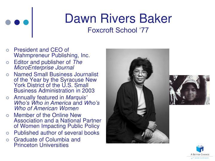 Dawn Rivers Baker