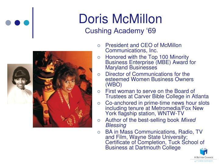 Doris McMillon