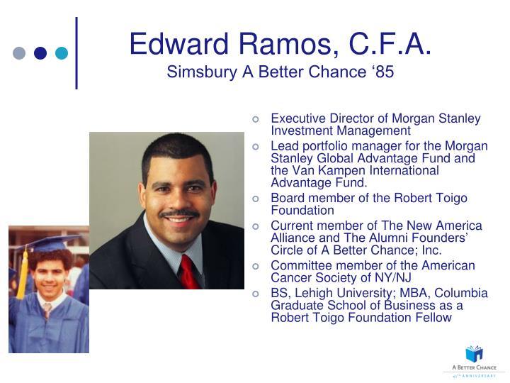 Edward Ramos, C.F.A.