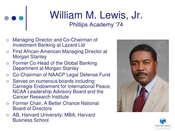 William M. Lewis, Jr.