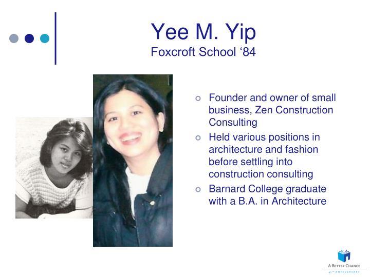Yee M. Yip