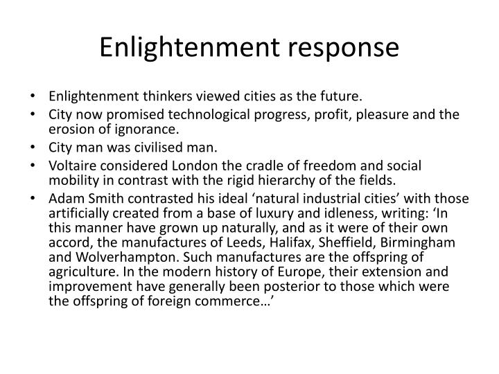 Enlightenment response