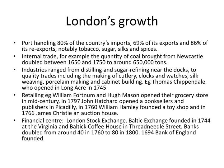 London's growth