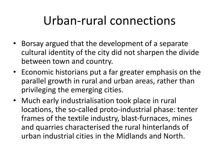 Urban-rural connections