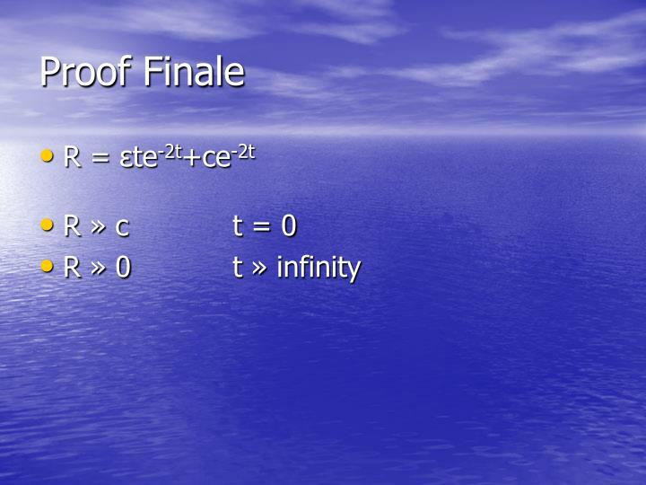 Proof Finale