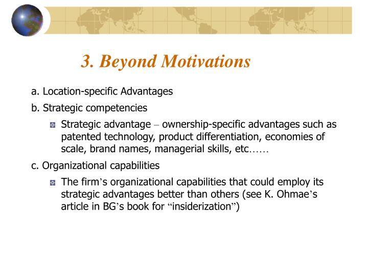 3. Beyond Motivations