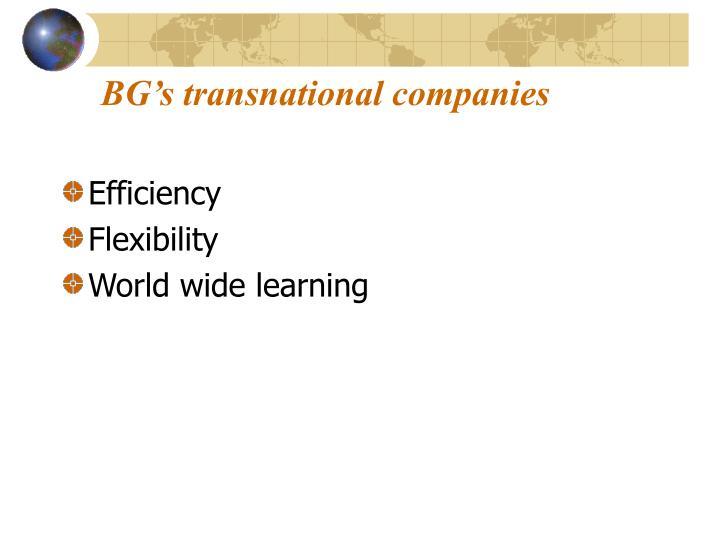 BG's transnational companies
