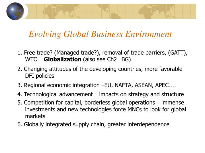 Evolving Global Business Environment