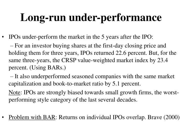 Long-run under-performance