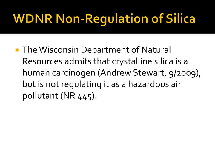 WDNR Non-Regulation