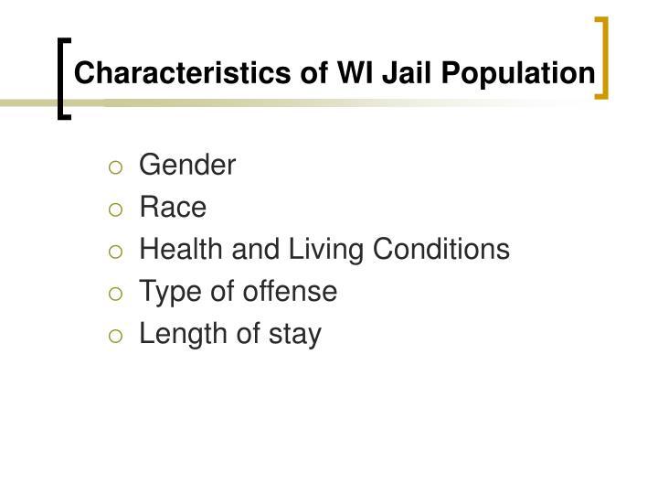 Characteristics of WI Jail Population