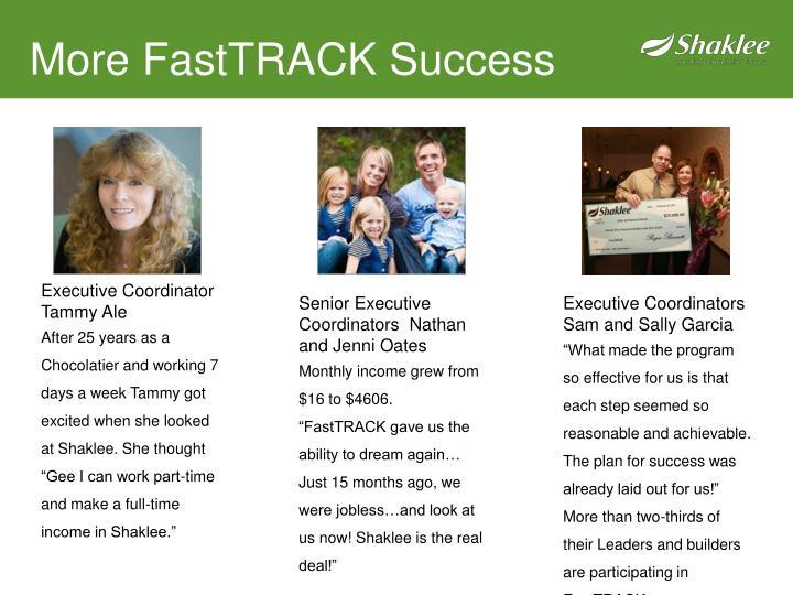 More FastTRACK Success