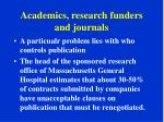 academics research funders and journals2