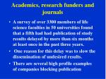 academics research funders and journals3