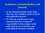 academics research funders and journals4