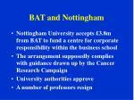 bat and nottingham