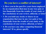 do you have a conflict of interest1