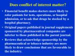 does conflict of interest matter