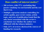 does conflict of interest matter2